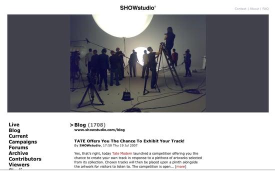 Fab Site: SHOWStudio.com
