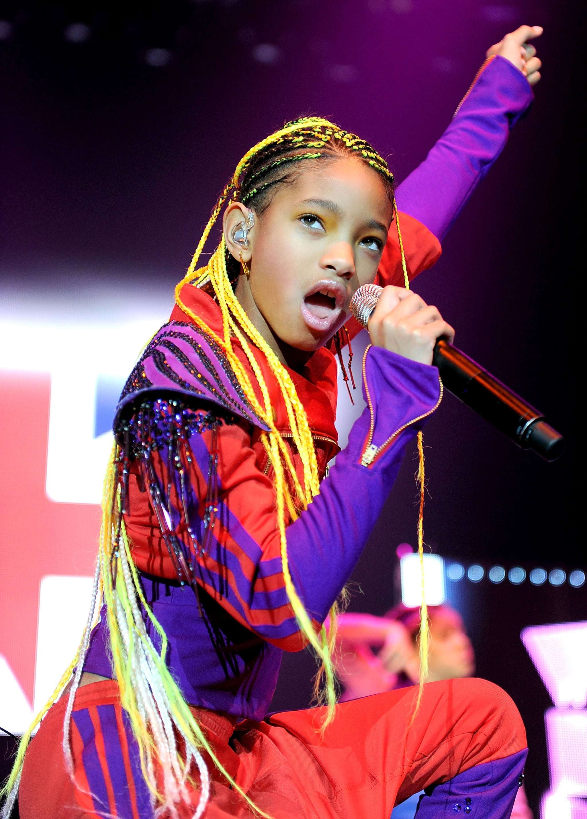 Waist Skimming Yellow Cornrows Help Willow Whip Her Hair