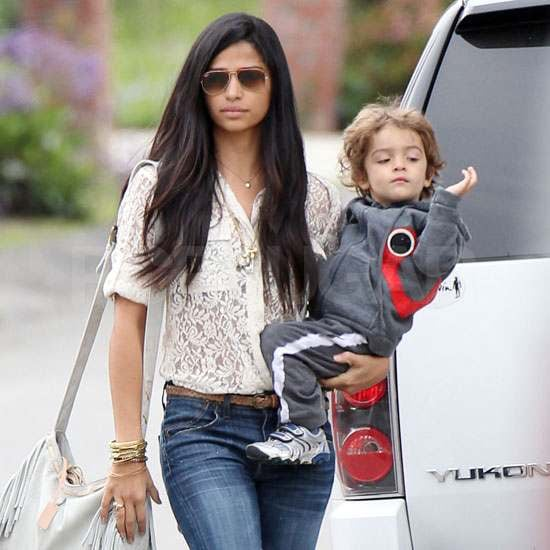 Pictures of Camila Alves With Levi in Malibu