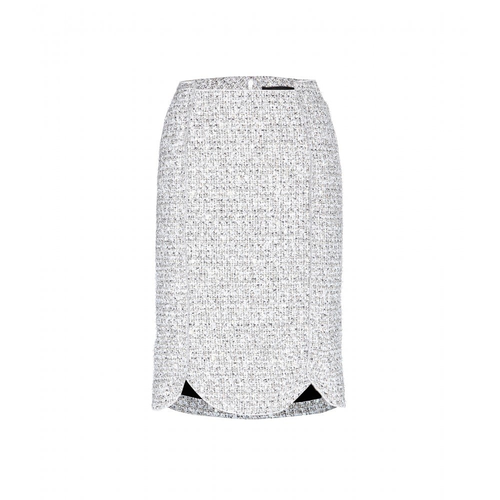 """Nothing says """"Fall"""" to me like a tweed pencil skirt — the problem is I always feel a bit too conservative when I wear the classic style. Proenza Schouler's scalloped design ($896) is almost more sporty than studious in the schoolyard spectrum, and is subtle enough to go with my boldest Autumn prints. — RM"""