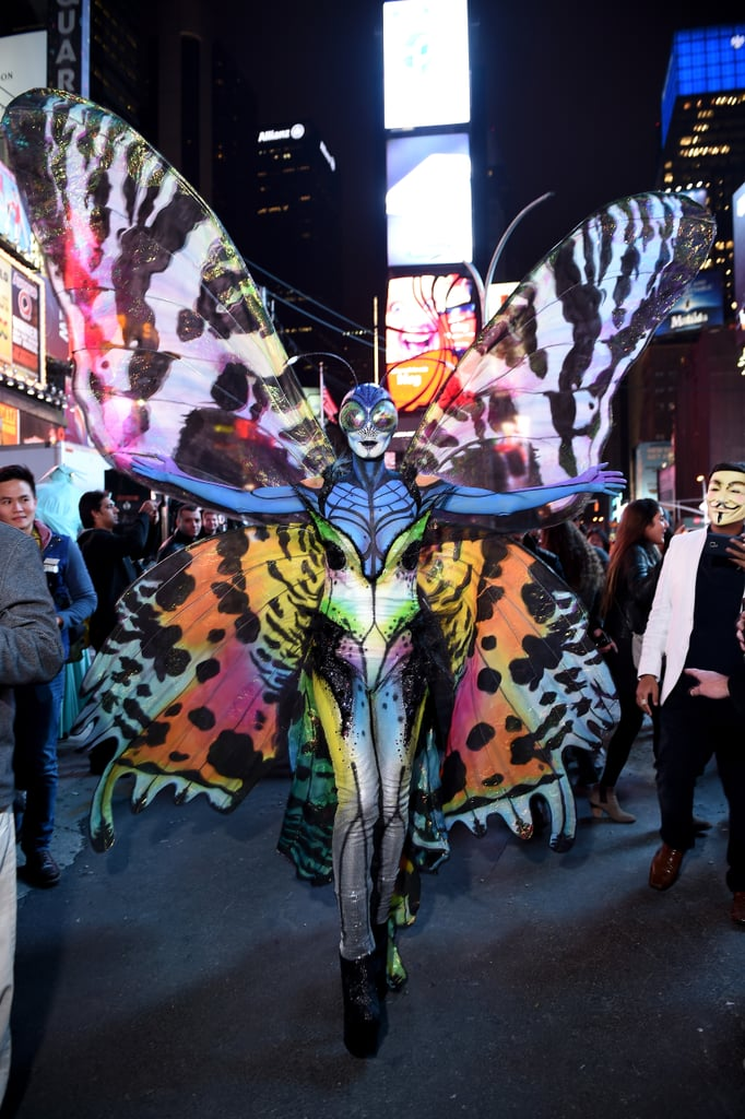Heidi Klum dressed as a butterfly in 2014.
