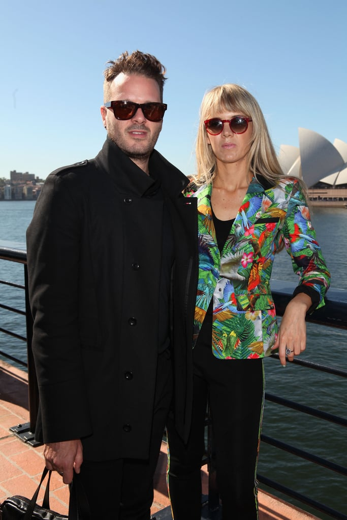 Matthew Paroz and Sophia Banks-Coloma around MBFWA