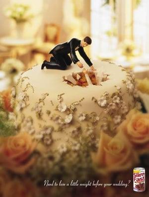 Pics of Slim Fast Wedding Ads