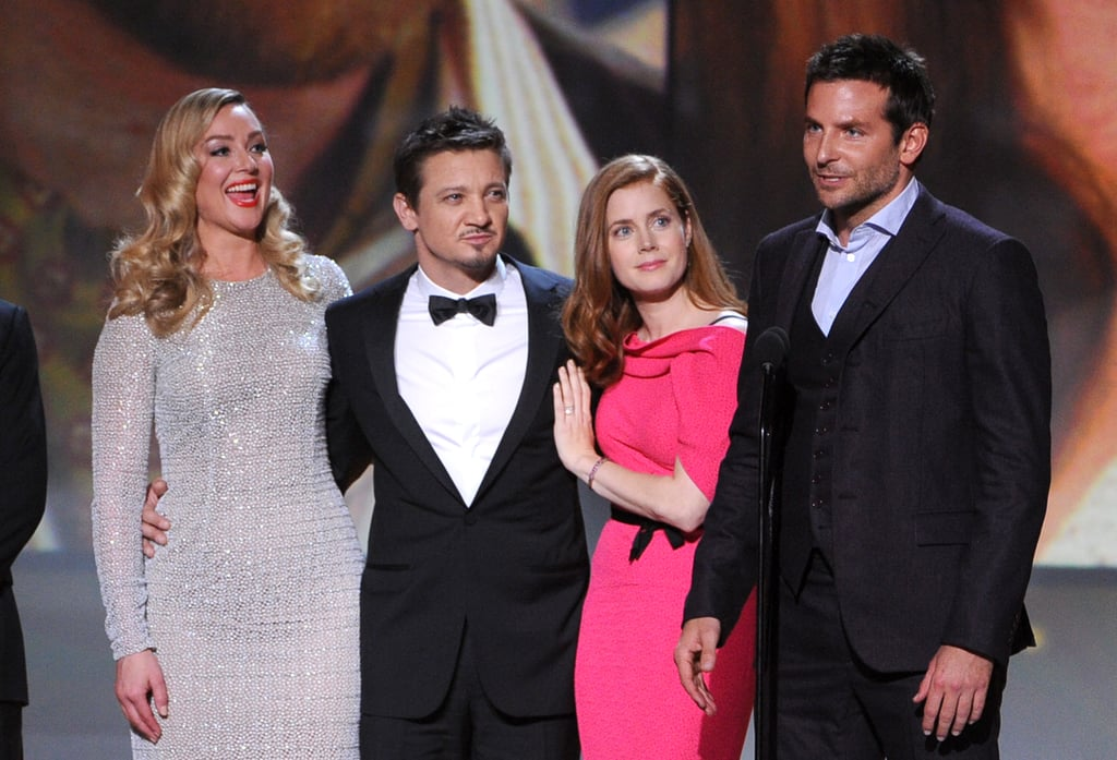 Bradley spoke when he and his costars, including Elisabeth Rohm, Jeremy Renner, and Amy Adams, took home the award for best acting ensemble.