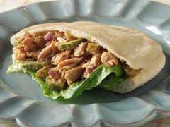 Monday's Leftovers: Salmon Salad in a Pita Pocket