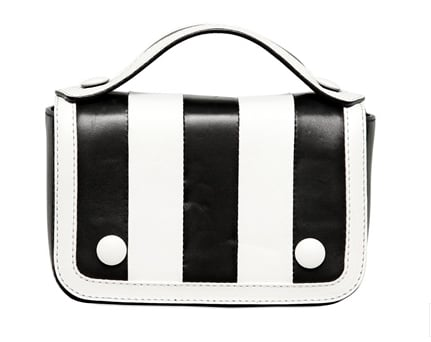Moschino's black-and-white-striped Gloria bag ($839) would be a fabulous addition to any ensemble, especially something all black or all white.