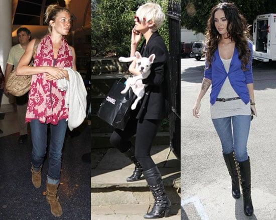 Photos of Sienna Miller, Sarah Harding, and Megan Fox Wearing Studded Boots