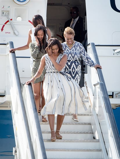 Michelle, Malia and Sasha Arrive in Sophisticated Style for Final Stop in Spain on Their Let Girls Learn Tour