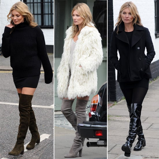 3 Ways to Wear the Over the Knee Boot, by Kate Moss