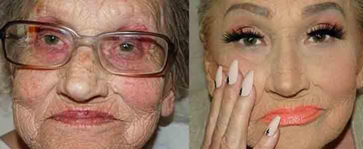 "Makeup Artist Transforms Her Grandma Into ""Glam-Ma"" With Contouring"