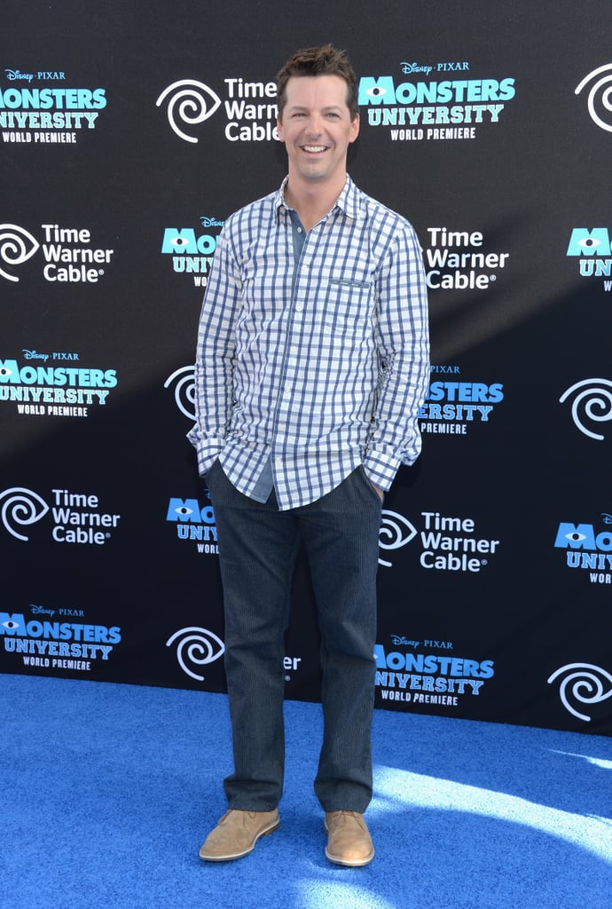 Sean Hayes kept it simple on the red carpet.