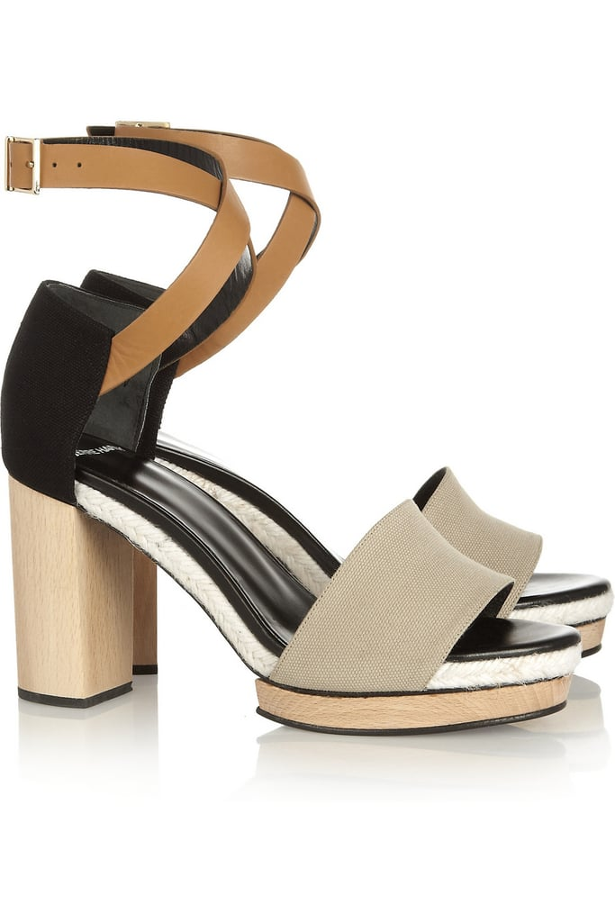 I love the sleek colorblocking and mixed-material construction of these Pierre Hardy Canvas and Leather Sandals ($595). The wood heel adds a bit of retro cool, and I think they'll look so fresh with a pair of white skinny jeans and a breezy top. — Britt Stephens, Style & Trends assistant editor