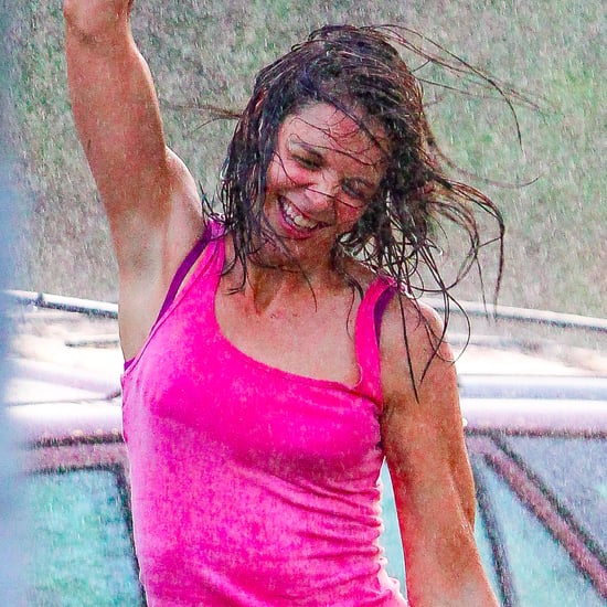 Katie Holmes Dancing in the Rain on Set Pictures