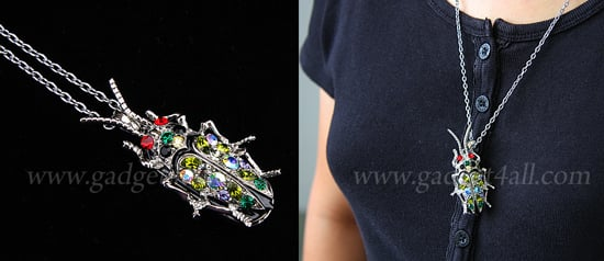 Jeweled Bug Flash Drive Necklace: Love It or Leave It?