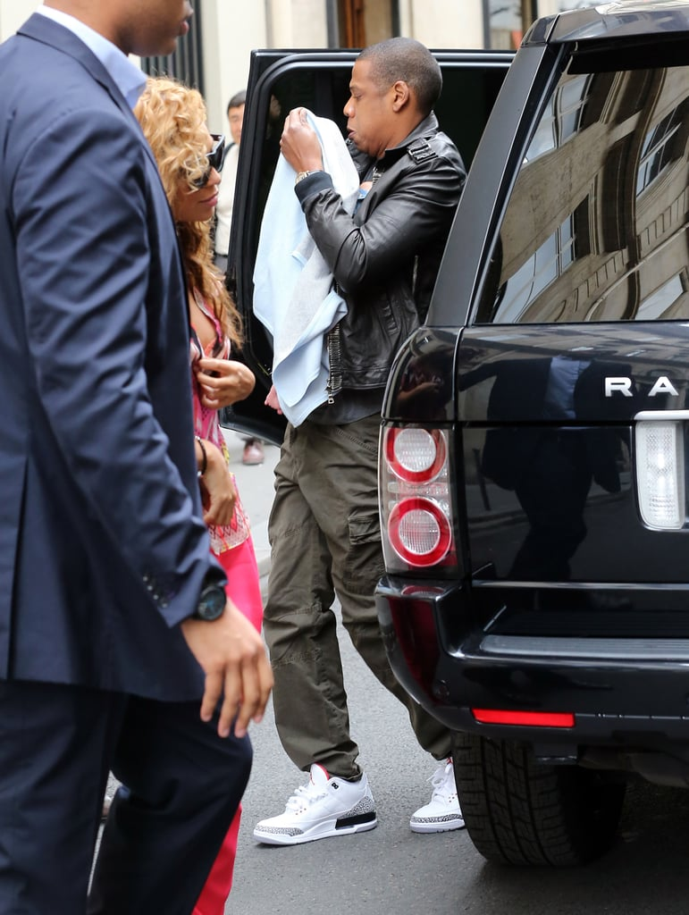 Jay-Z, Beyoncé, and Baby Blue Take Paris Together