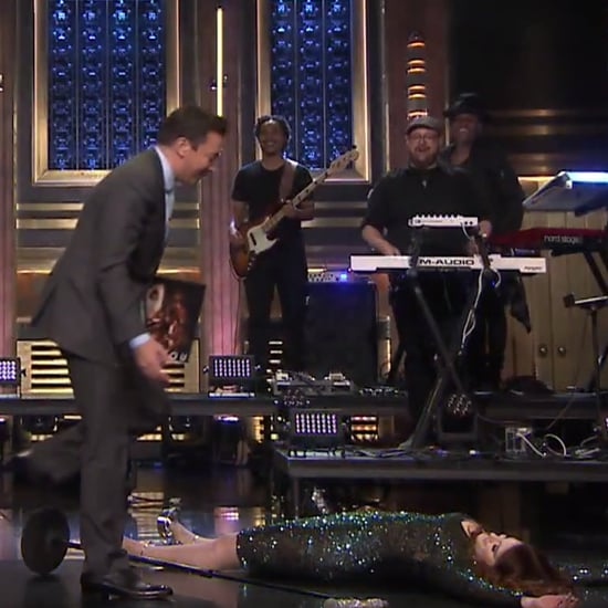 Meghan Trainor Falls on The Tonight Show May 2016