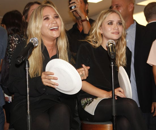 Slide Picture of Mary-Kate and Ashley Olsen Celebrating Fashion's Night Out at Barney's in NYC