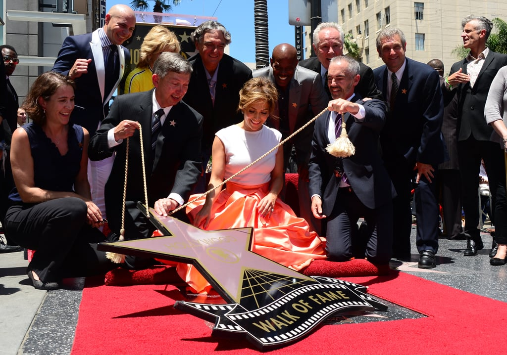 Jennifer Lopez received the 2,500th star on the Hollywood Walk of Fame.