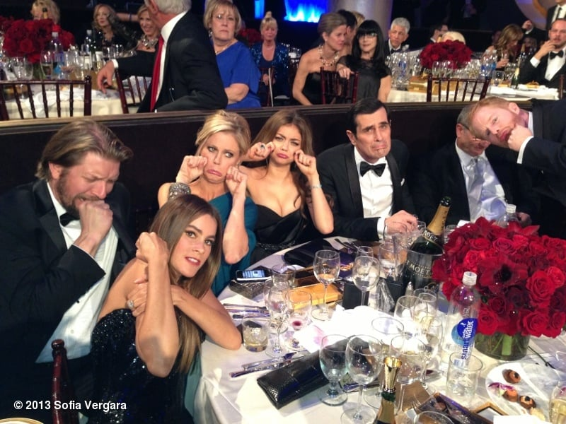 The cast of Modern Family didn't take their Golden Globes loss very well. Source: Sofia Vergara on WhoSay