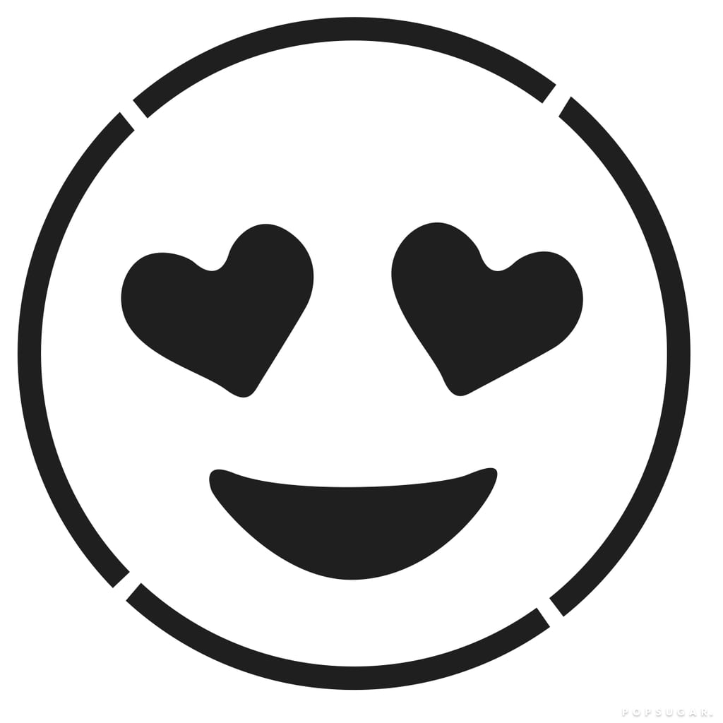 Smiling Face With Heart-Shaped Eyes Emoji Templates by Morgan Pugh