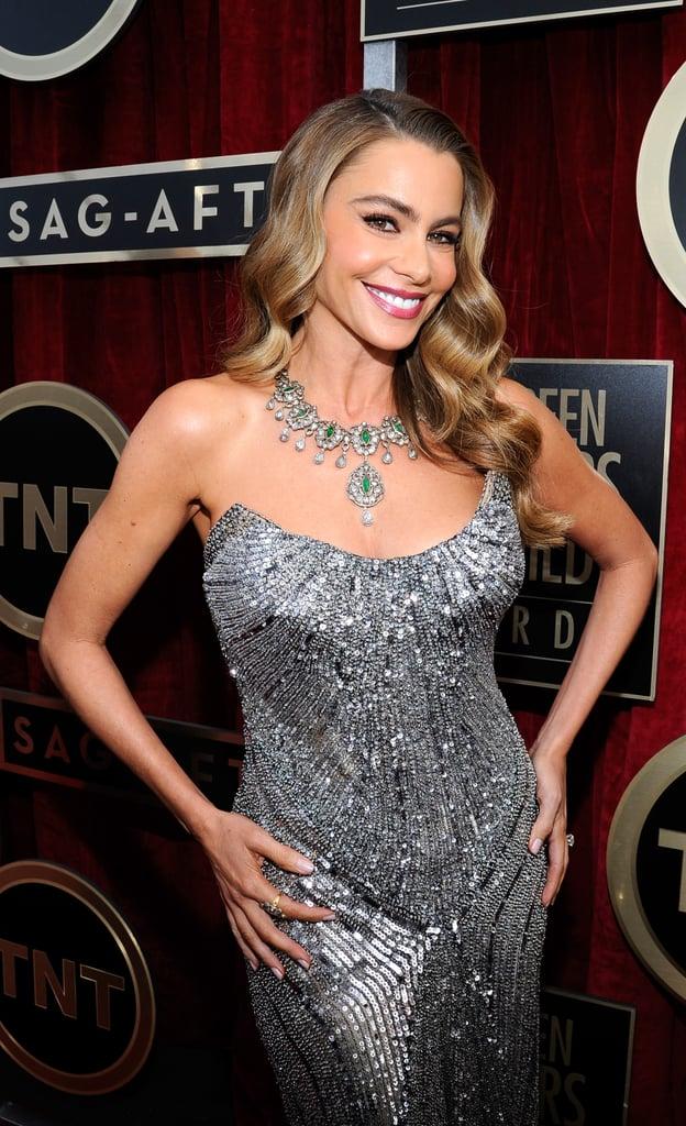 Sofia Vergara sparkled in a strapless gown.