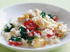 Quick, Easy, Delish Dinner: Chicken and Spinach Risotto