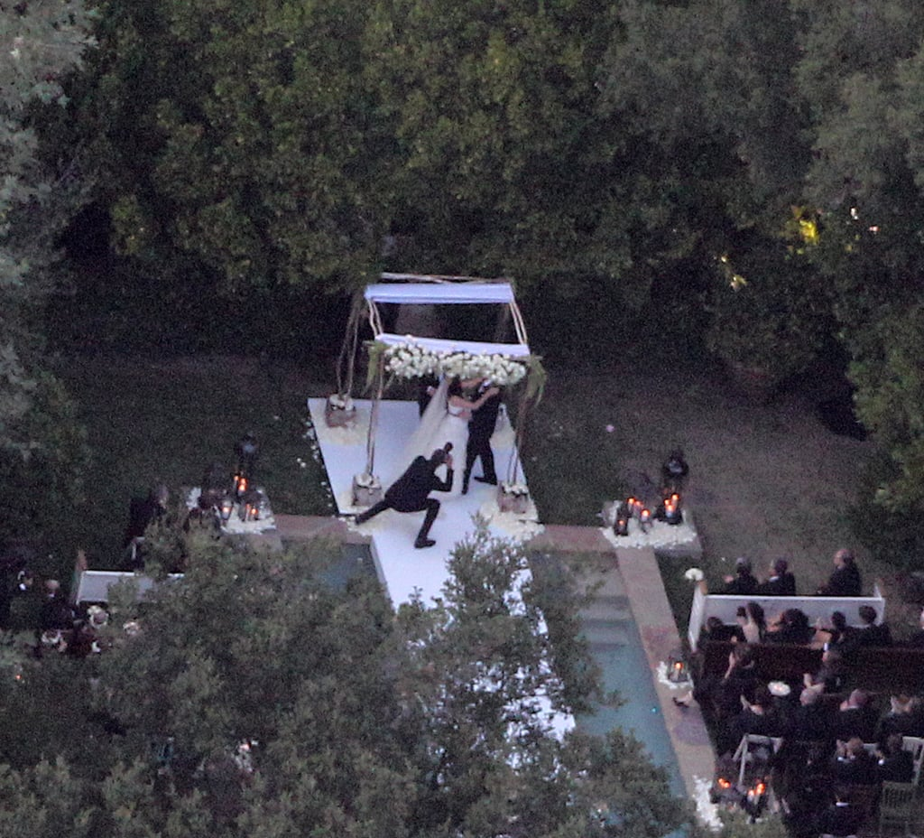 """100 guests watched the couple say """"I do."""""""