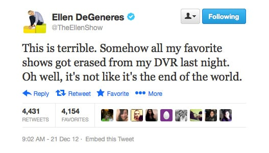 Oh no you didn't, Ellen DeGeneres!