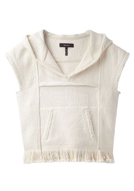 This boho-cool, fringed pullover is perfect for throwing on over a bikini.  Isabel Marant Lula Hooded Knit Pullover ($1,200)