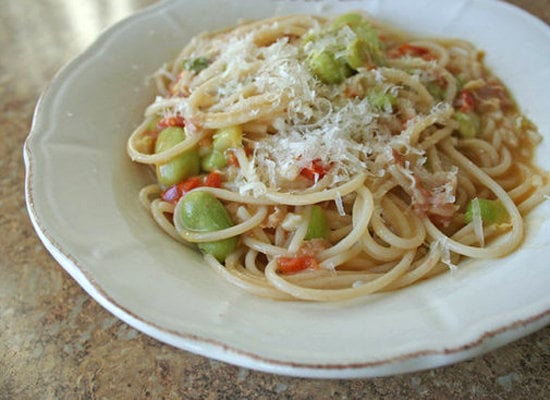 Pancetta and Fava Bean Pasta
