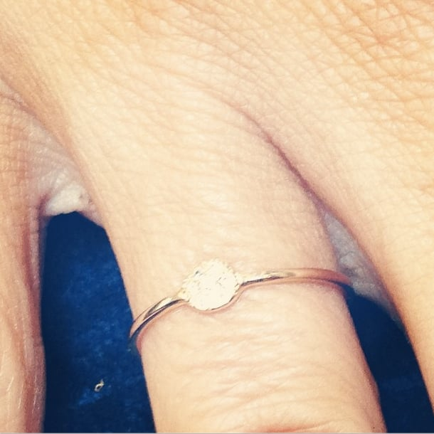 Anders snapped this picture of the engagement ring he got for Sia in June.  Source: Instagram user mister__business