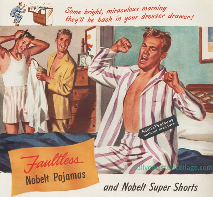 And for an example of an advertisement with unintentionally homosexual undertones, there's this pajamas ad for men.