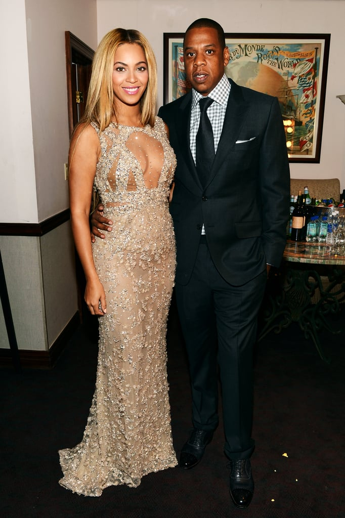 Beyoncé Knowles smiled with Jay-Z in NYC.