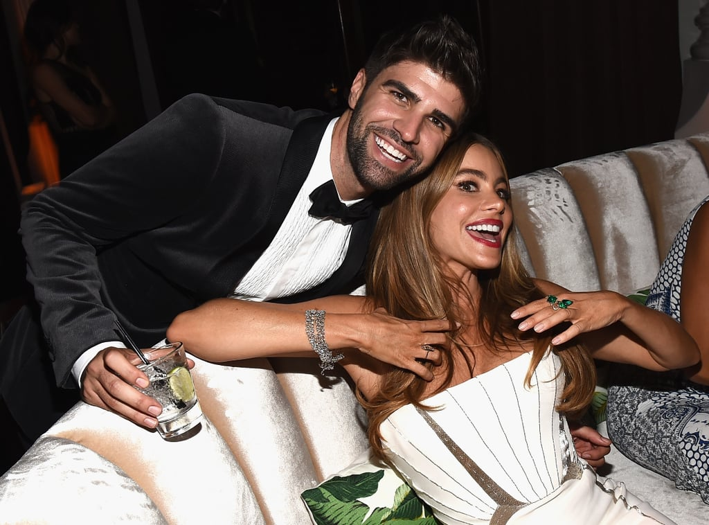 Sofia Vergara and Justin Mikita got goofy inside the Fox bash.