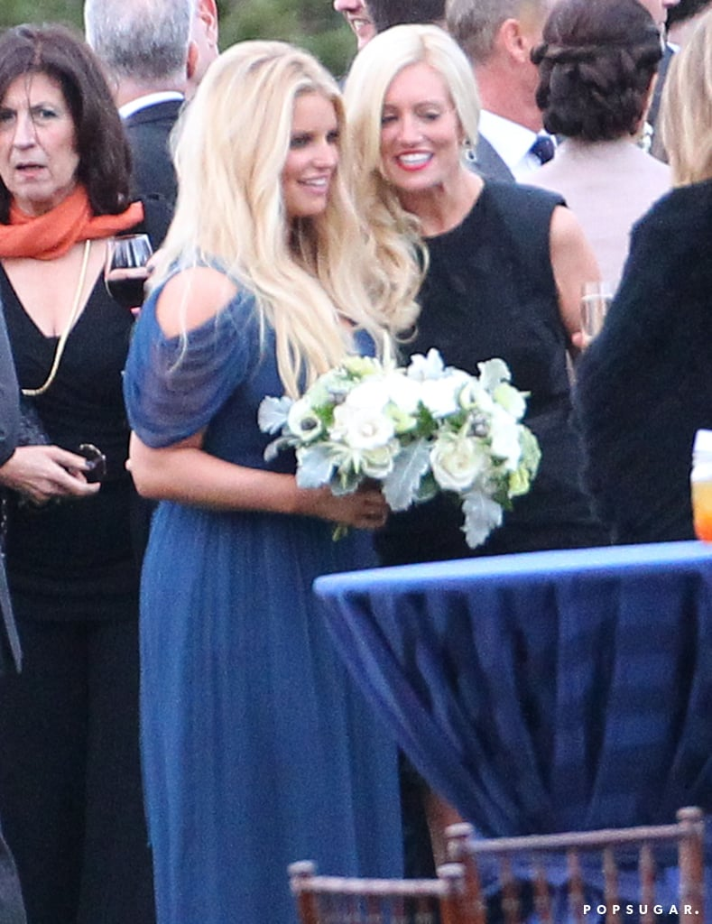 Jessica Simpson attended her publicist's wedding.