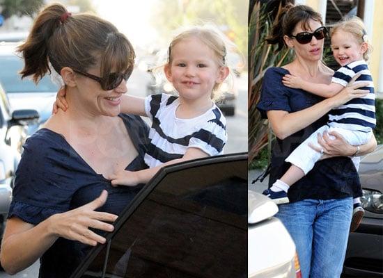 Celebrity Baby Photos Violet Affleck in LA With Jennifer Garner and Ben Affleck