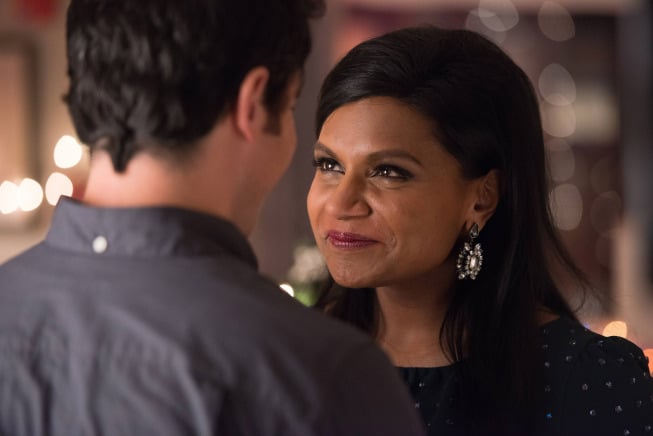 The Mindy Project Danny (Chris Messina) and Mindy share a moment.
