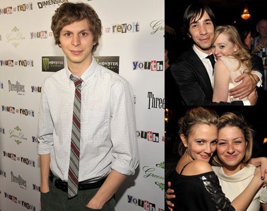 Photos of Michael Cera, Justin Long, And Drew Barrymore Premiering Youth in Revolt in LA 2010-01-07 13:30:00