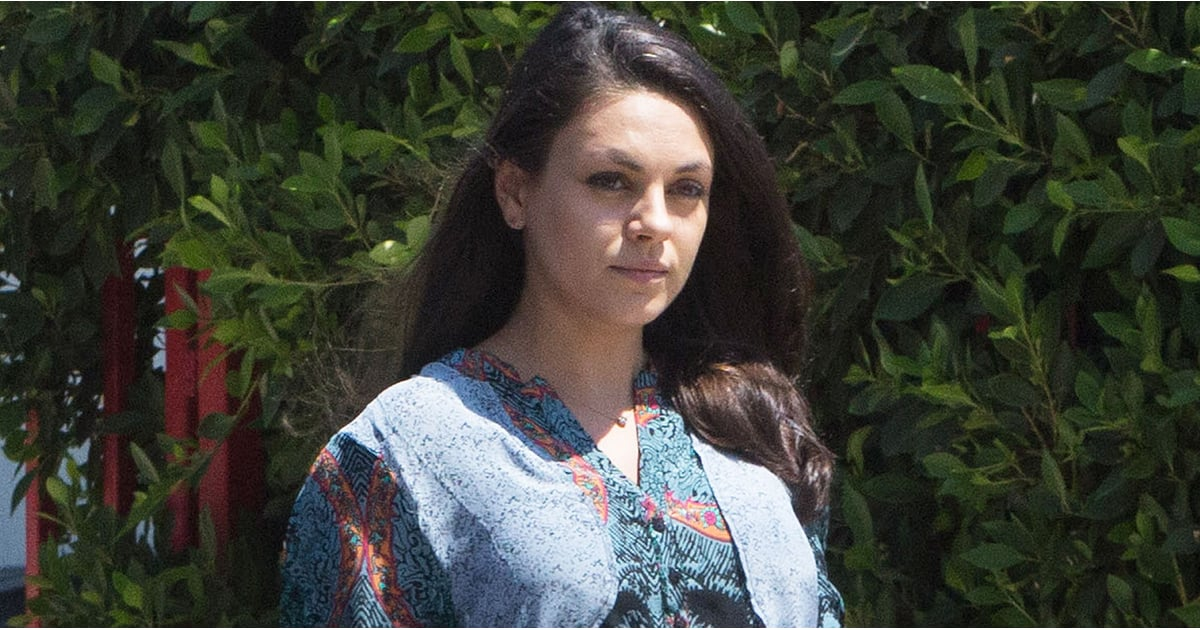 Mila Kunis Shows Off Her Growing Belly While Running Errands in LA