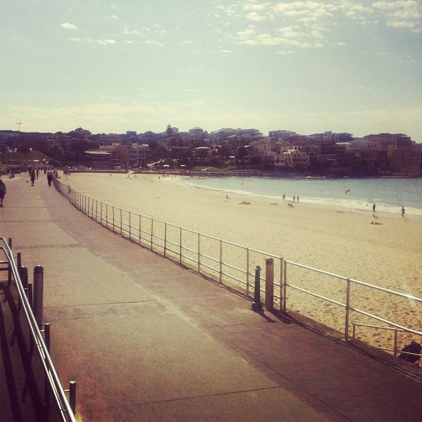 A rare late start during the week means a morning run along Bondi beach is in order for Alison.