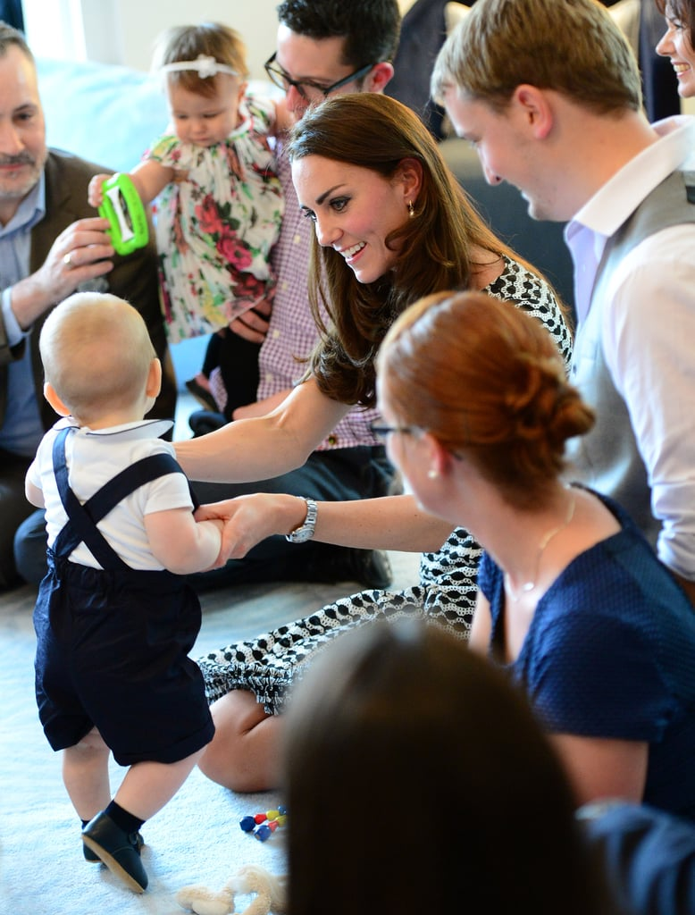 Kate played with George during his first official appearance during their April 2014 tour of New Zealand.