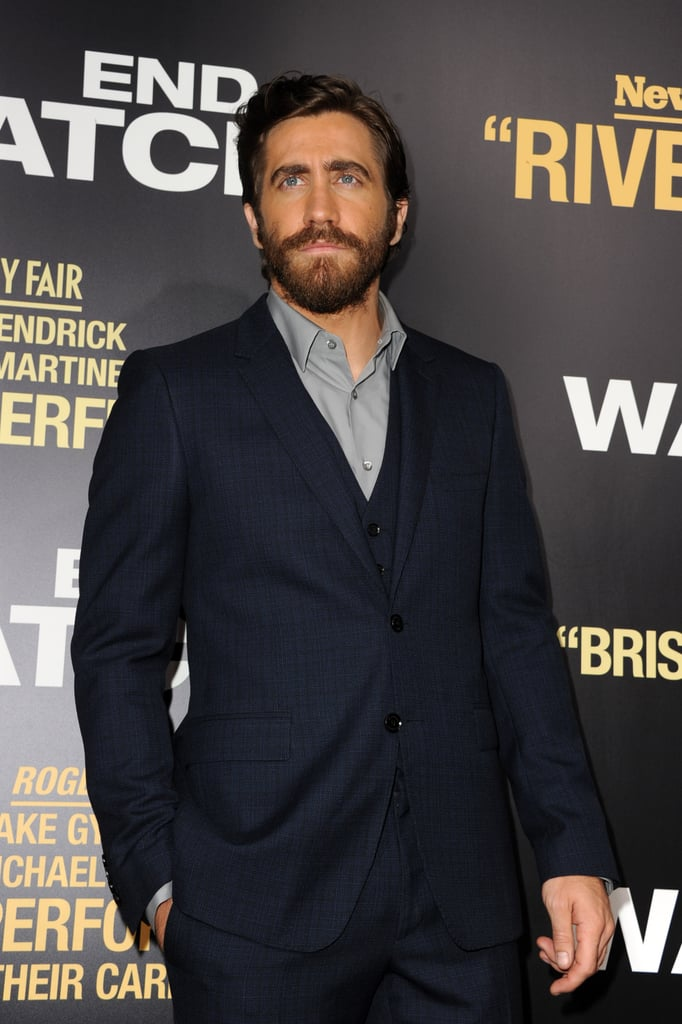 Jake Gyllenhaal attended his LA premiere of End of Watch.
