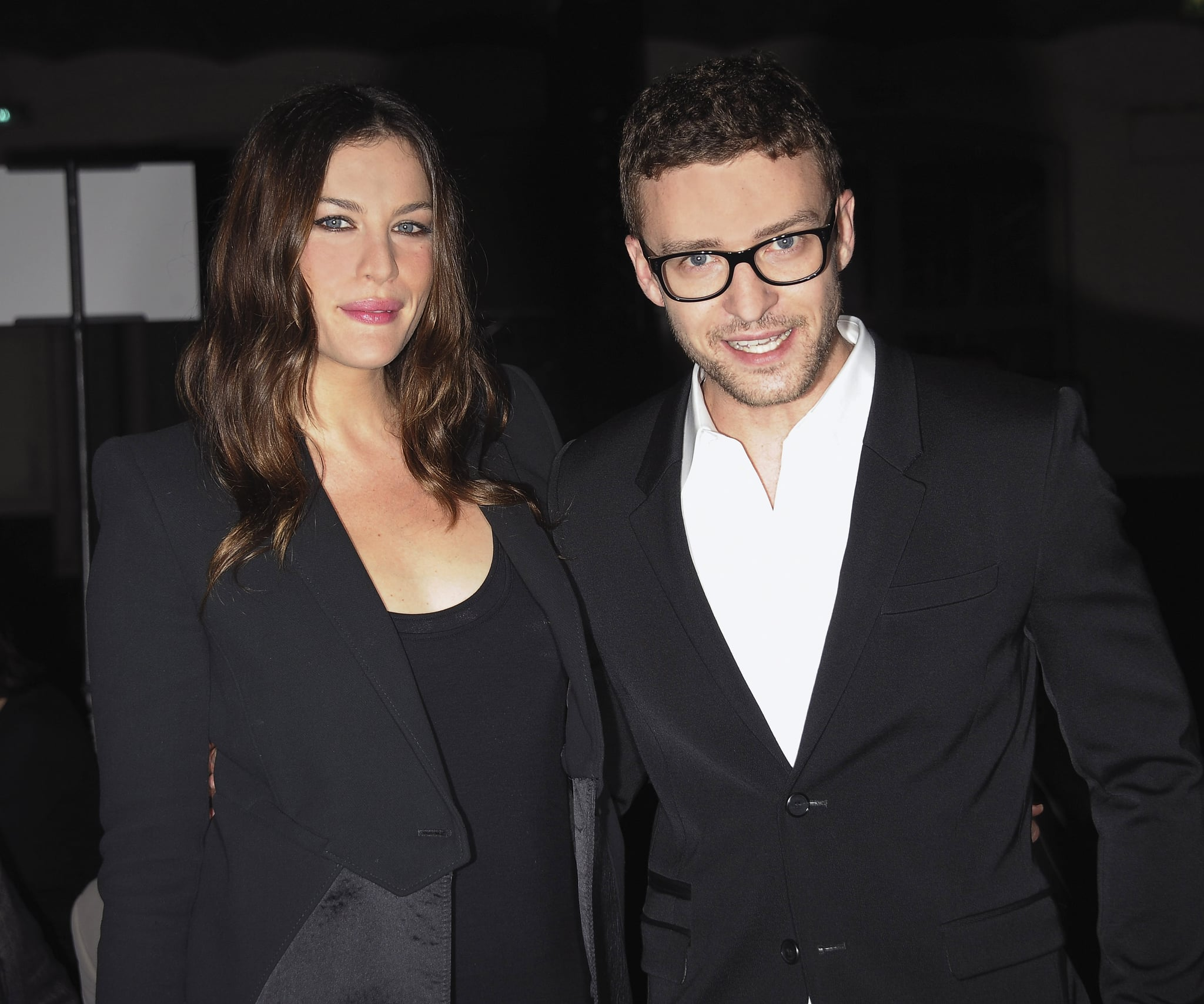 Liv Tyler posed with a bespectacled Justin backstage at the Givenchy fashion show in 2010.