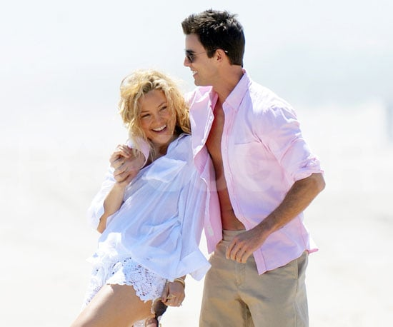 Slide Picture of Kate Hudson and Colin Egglesfield On the Beach in the Hamptons