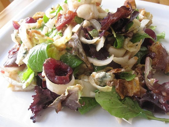 Greens With Cherry Beer Vinaigrette