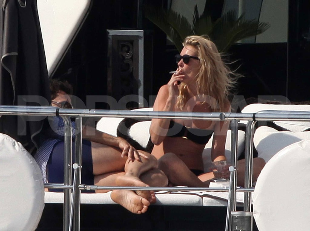 Kate Moss and Jamie Hince soaked up the sun.