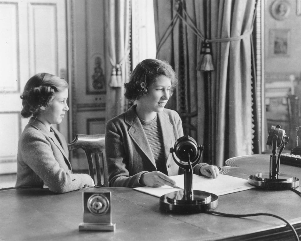 She made her first broadcast in London in 1940 to announce that Princess Margaret (not her sister, Margaret Rose) had passed away.