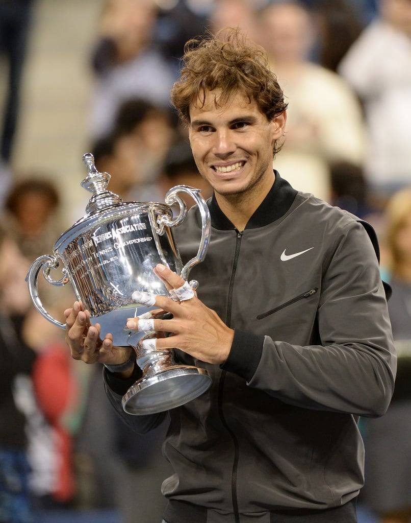 Rafael Nadal held up his trophy after winning the US Open.