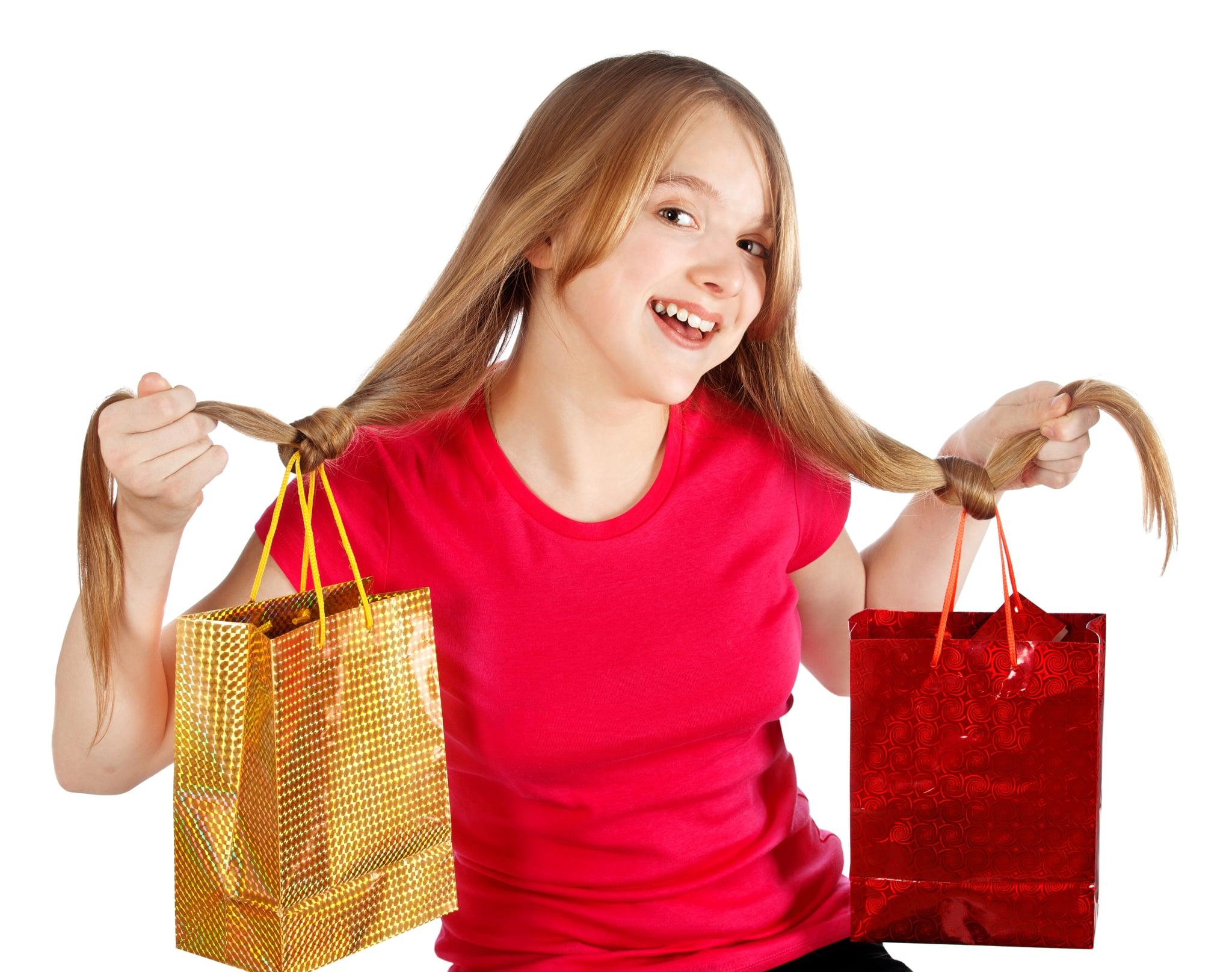 Shopping Bags as Hair Accessories