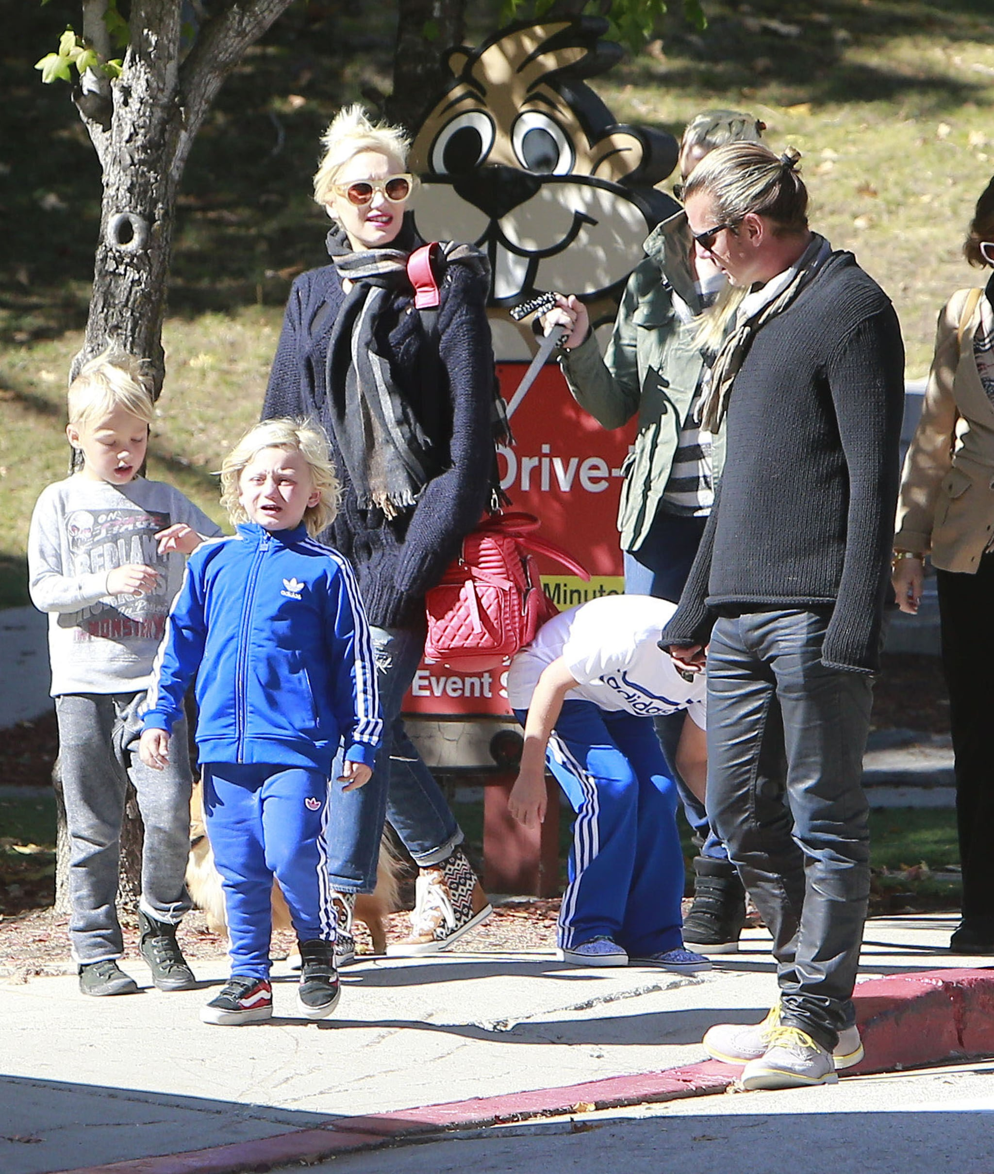 Gavin Rossdale and Gwen Stefani hit up the mountain town with sons Kingston and Zuma.